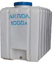 Прямоугольная пластиковая емкость 1000 литров