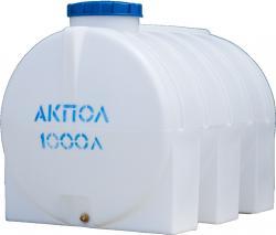 Бочка пластиковая горизонтальная 1000 литров для воды