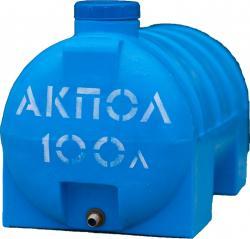 Бочка пластиковая горизонтальная 100 литров АКПОЛ