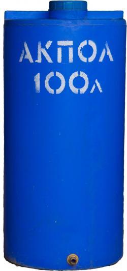 Вертикальный пластиковый бак для воды 100 литров