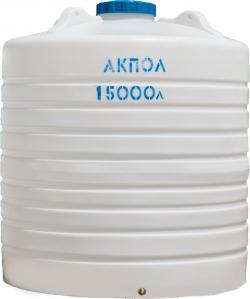 Вертикальный белый пластиковый бак для воды 15000 литров Краснодар