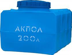 Прямоугольная пластиковая емкость 200 литров для воды