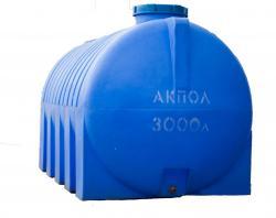Бочка пластиковая горизонтальная 3000 литров в Краснодаре для воды