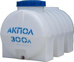 Бочка пластиковая горизонтальная 300 литров для воды в Краснодаре