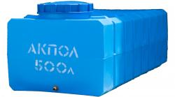 Прямоугольная пластиковая емкость 500 литров для воды