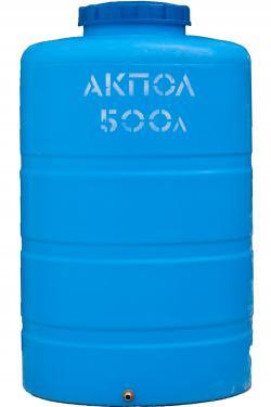 Вертикальный пластиковый бак для воды АКПОЛ 500 литров