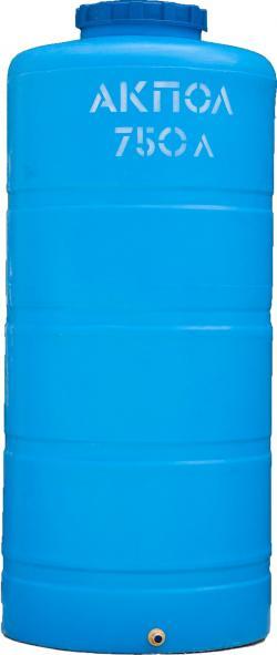 Вертикальный пластиковый бак для воды АКПОЛ 750 литров