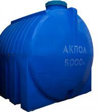 Бочка пластиковая горизонтальная для воды 5000 литров