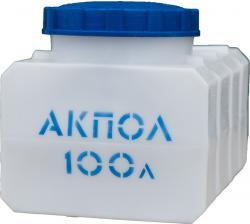 Прямоугольная пластиковая емкость 100 литров