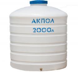 Вертикальный пластиковый бак для воды 2000 литров